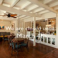 We are closed all February, reopen March 4th