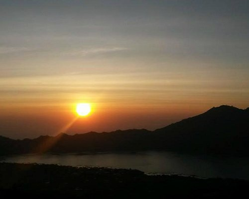 Breathtaking view of the sunrise..