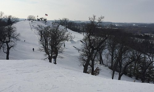 View from the top of one chairlift to the other.