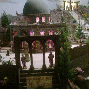 réplica a escala de las ciudades de Belén y Jerusalén