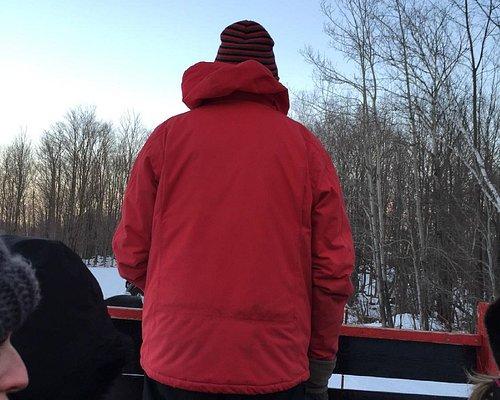 leading the sleigh