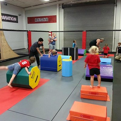 The little ones learning Parkour at our Summer Camp!