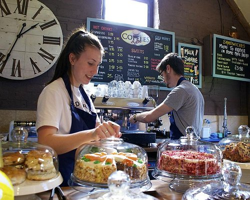 Working hard to bring you delicious cakes, coffees & sandwiches at Astley Book Farm