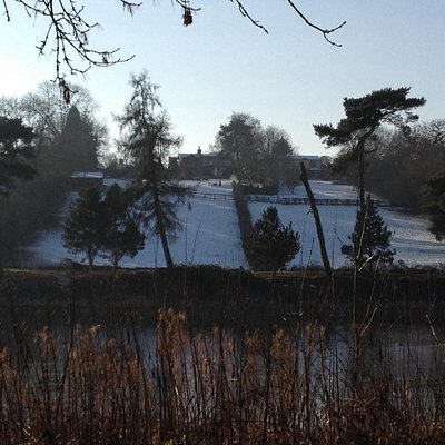 Snowy day at Thornton Reservoir