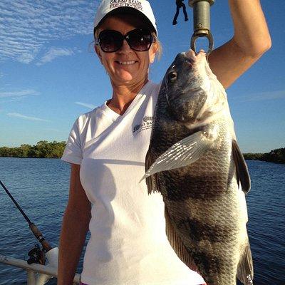 Teresa Metzger's big fish with Captain  Mike