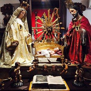 Arte Sacra. Menino Jesus na manjedoura