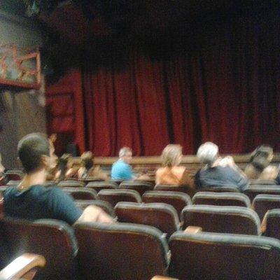 Parte interna do teatro