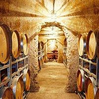 The underground La Cave store