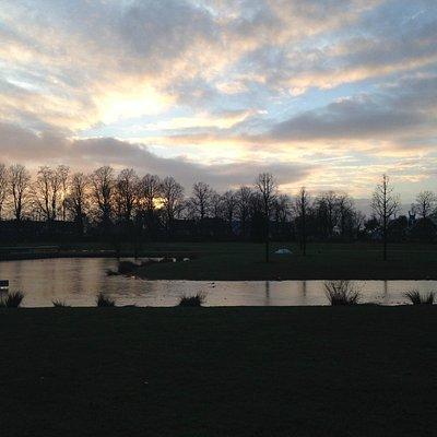 Winter sunset at Volkspark