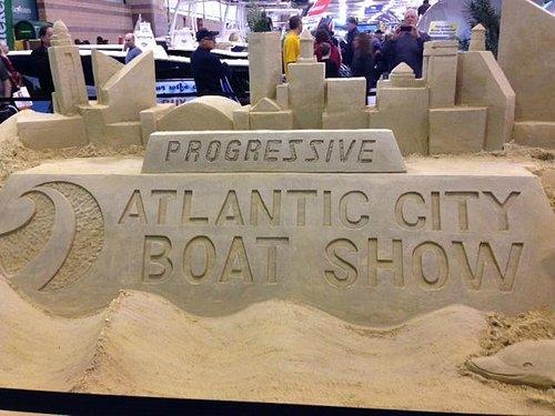 Atlantic City Boat Show sand sculpture