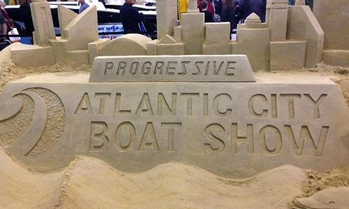 Atlantic City Boat Show sand sculpture