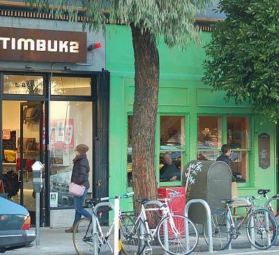 Timbuk2 Hayes Valley - In the heart of SF. Bike racks out front!