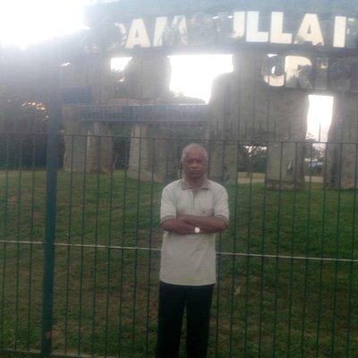 In front of stadium