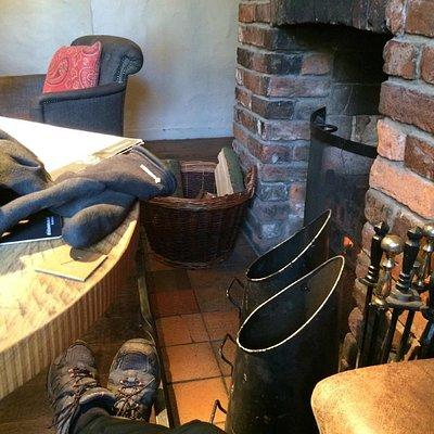 Warm feet, warm heart, hot food.