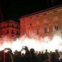 Magia di luci della festa di Santa Eulalia