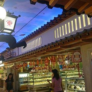 Japanese theme restaurant street