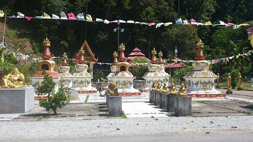 The stupa area