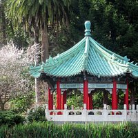 Chinese Pagoda, Gift from Sister City Taipei to San Francisco, Stow Lake, Golden Gate Park,  CA