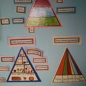 Food pyramid exhibit