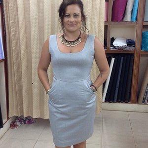 Slim working dress