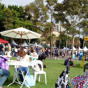 Pyrmont growers market on a sunny Saturday.