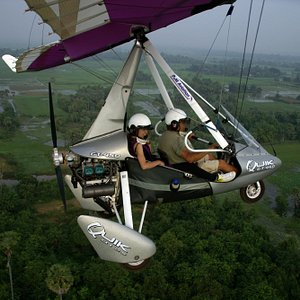 Taking to the Skies in a Microlight in Siem Reap, Cambodia