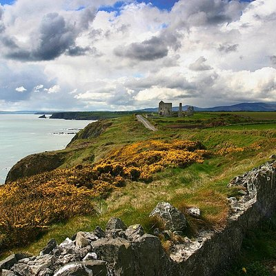 The rugged coastline of Copper Coast Geopark and the remains of the iconic Tankardstown Mines