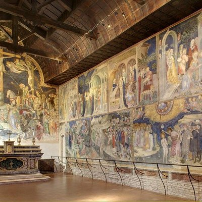 Crocifissione e Storia di San Giovanni Battista (© Confraternita San Giovanni Battista Urbino)