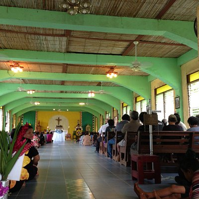 Inside St. Joseph's Church in Gagil...
