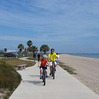 Walk, skate or ride on the Beachwalk that runs 1.5 miles along North Beach