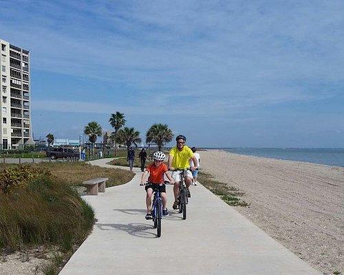 Walk, skate or ride on the Beachwalk that runs 1.5 miles along North Beach