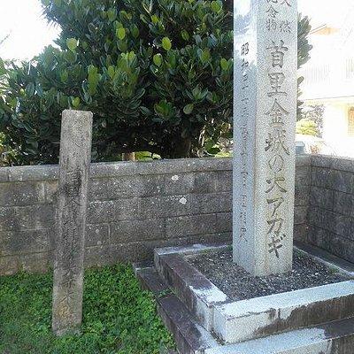 赤マルソウ通りからの入口にある碑