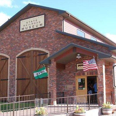 South Dakota State Railroad Museum Building- right next door to 1880 Train