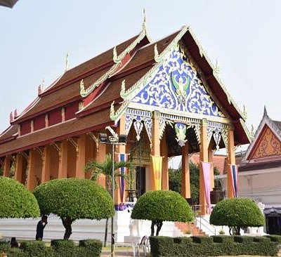 Beautiful Temple from the Entrance.