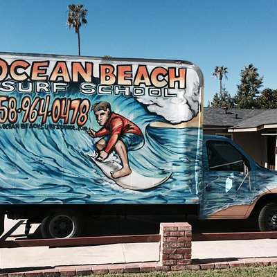 Ocean Beach Surf School Truck Spotted!!