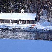 Riedman Fish Hatchery in winter