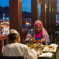 Omani Cuisine by the evening! Overlooking the Muttrah Corniche!