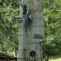 Prometheus Shot dead Monument in Zakopane