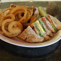 Clubhouse with fresh home cooked Turkey and onion rings