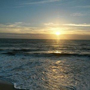 Amanhecer na Praia de Barra do Itapemirim