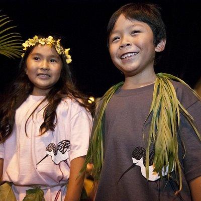 Kids apparel with Hawaiian endangered species.