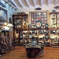 Ceramic, copper, wood & bronze American made Art