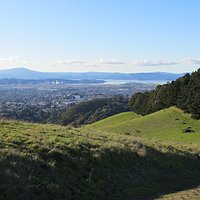 Overlooking nearby Richond with San Francisco Bay and Mt. Tamalpais beyond