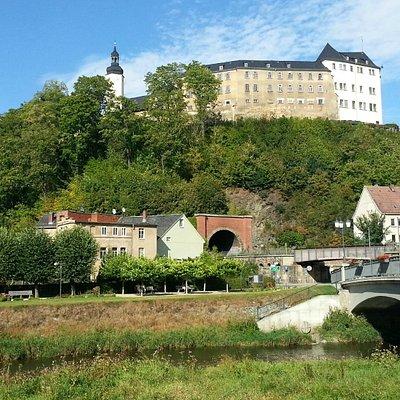 Oberes Schloss Greiz, Blick aus dem Greizer Park