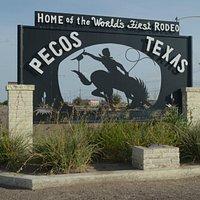 insegna inizio paese di Pecos