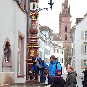 Touring Basel with our guide Stephanie.