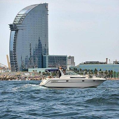 Cruising off the Barceloneta