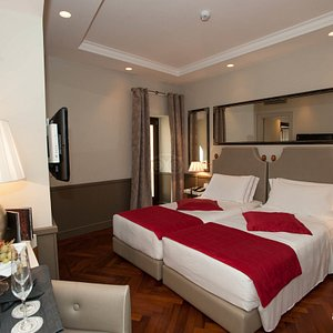 Master Bedroom in the Deluxe Room at the Hotel Lunetta