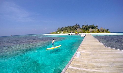 Stand up paddle on an incredible island