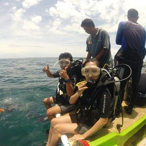 Our first time diving in nusa dua